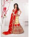 Stunning Red Silk Lehenga Choli