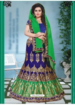 Phenomenal Green Jacquard Lehenga Choli