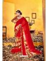 Sensational Red Weight Less Casual Saree