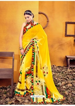 Wonderful Lemon Weight Less Casual Saree