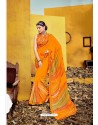 Heavenly Orange Weight Less Casual Saree