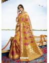 Mustard Cotton Silk Jacquard Saree