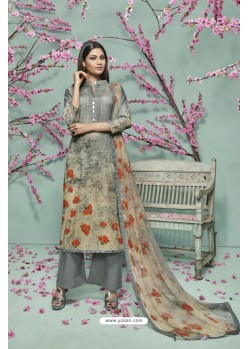 Grey Lawn Cotton Printed Suit