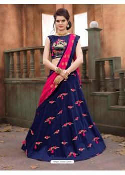 Blue Soft Tifi Silk Lehenga Choli