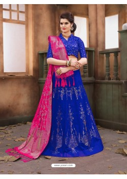 Royal Blue Banarasi Silk Lehenga Choli