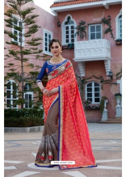 Multi Colour Georgette Saree