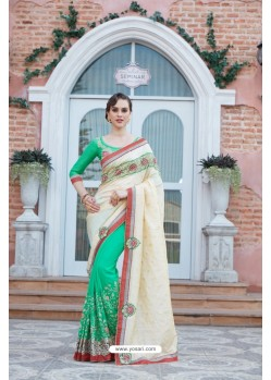 Jade Green Georgette Saree