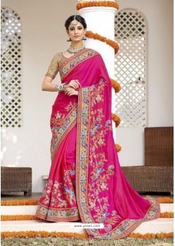Excellent Rani Heavy Silk Saree