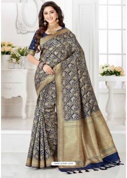 Splendid Beige Silk Blend Saree
