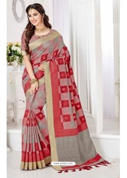 Feminine Multi Colour Cotton Silk Saree