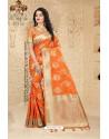 Marvelous Orange Uppada Silk Saree