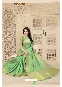 Incredible Green Uppada Silk Saree