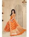 Mesmeric Orange Uppada Silk Saree