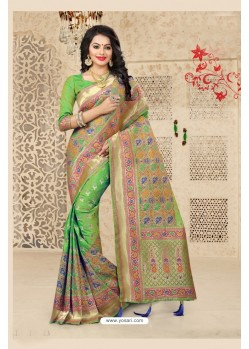 Markable Green Uppada Silk Saree