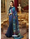 Adorable Navy Blue Georgette Saree
