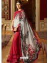 Awesome Red Georgette Saree