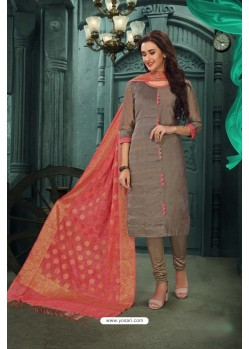 Heavenly Pink Chanderi Silk Suit