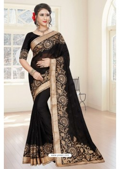 Amazing Black Georgette Saree