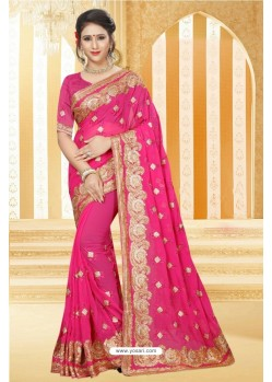 Magical Fuchsia Georgette Saree