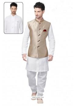Sensational White Linen Kurta Pajama