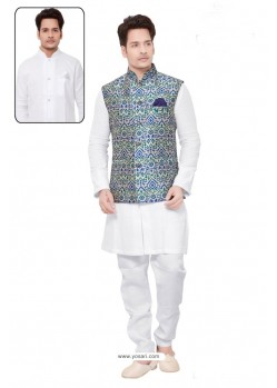 Mind Blowing White Linen Kurta Pajama
