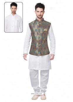 Glamorous White Linen Kurta Pajama