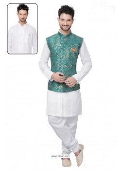 Graceful White Linen Kurta Pajama