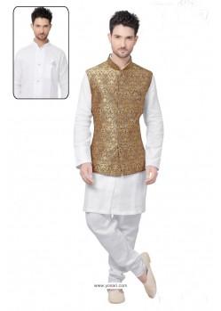 Enhanting White Linen Kurta Pajama