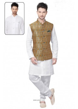 Admirable White Linen Kurta Pajama