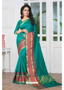 Perfect Green Banarasi Silk Saree