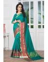 Perfect Green Banarasi Silk Saree