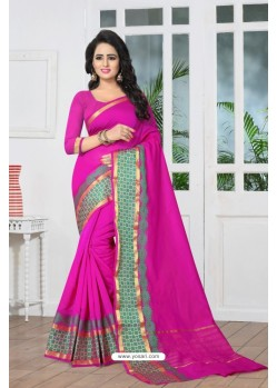 Observable Pink Banarasi Silk Saree