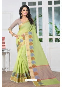 Phenomenal Green Banarasi Silk Saree