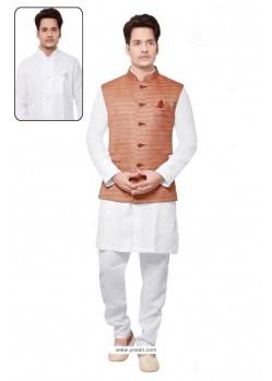 Markable White Linen Kurta Pajama