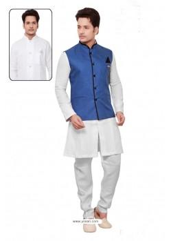Delightful White Linen Kurta Pajama