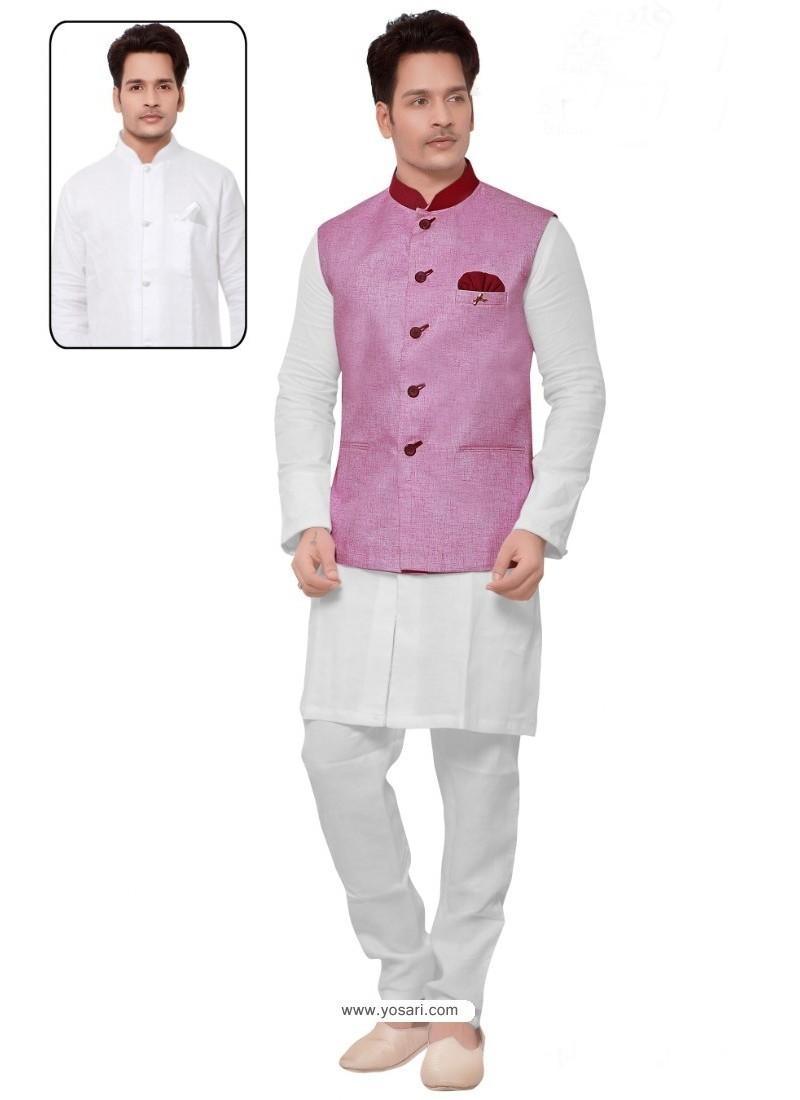 Perfect White Linen Kurta Pajama