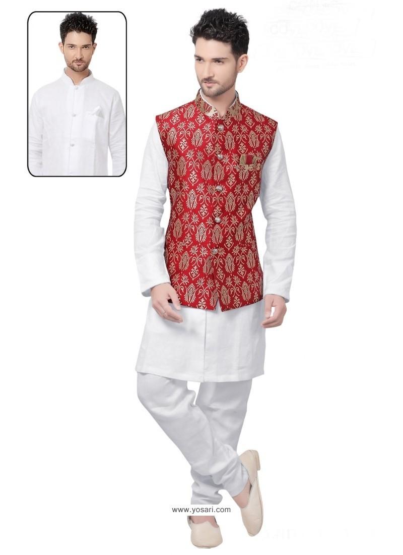 Observable White Linen Kurta Pajama