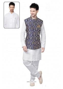Excellent White Linen Kurta Pajama