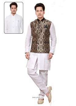 Phenomenal White Linen Kurta Pajama