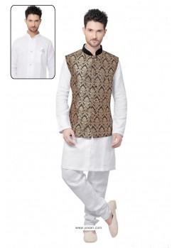 Fab White Linen Kurta Pajama