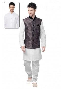 Fabulose White Linen Kurta Pajama