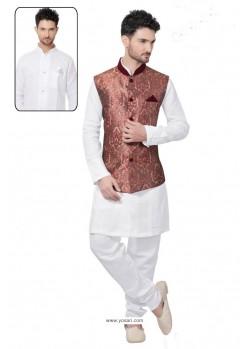 Astonishing White Linen Kurta Pajama