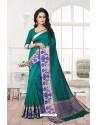 Groovy Teal Banarasi Silk Saree