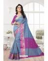 Markable Grey Banarasi Silk Saree