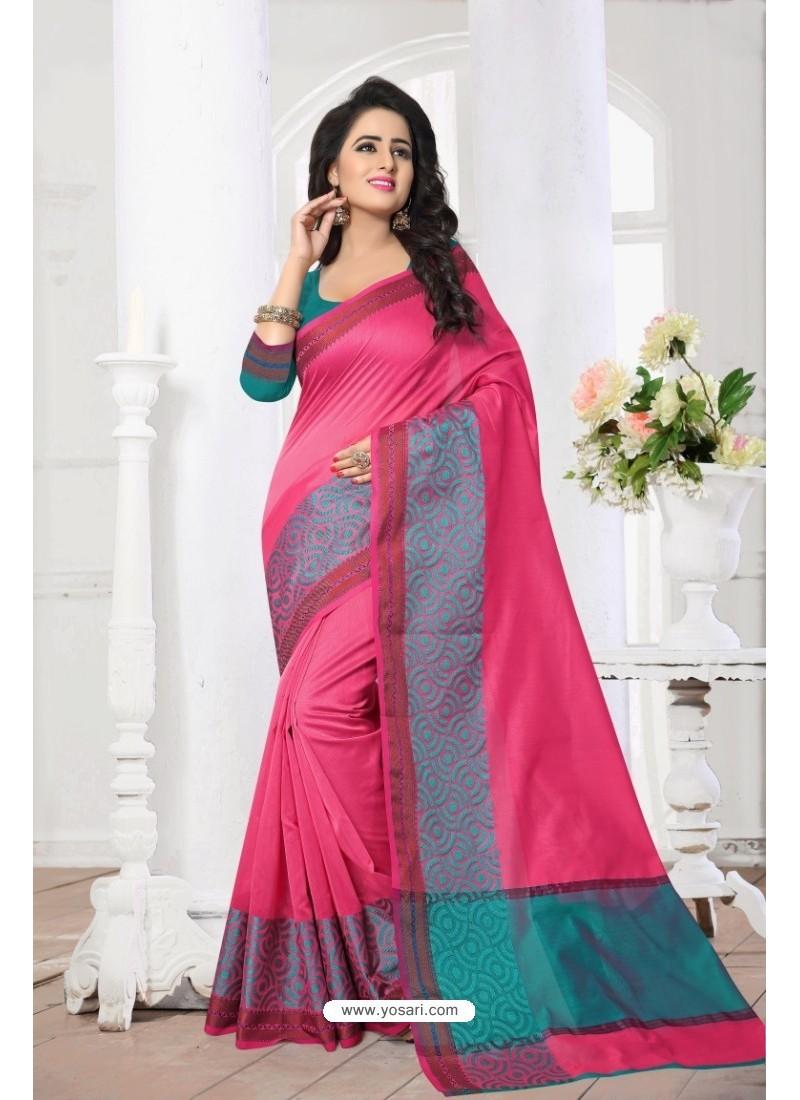 Deserving Peach Banarasi Silk Saree