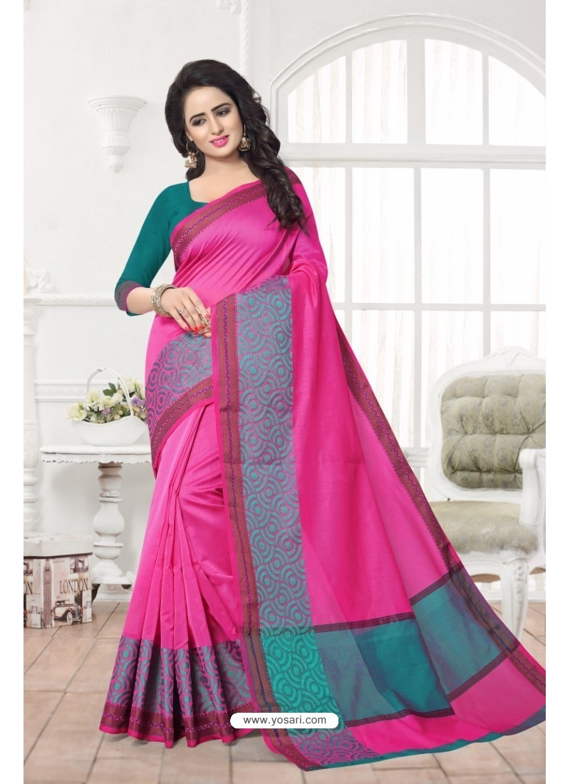 Beautiful Rani Banarasi Silk Saree
