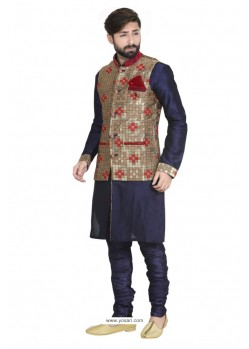 Flawless Dark Blue Kurta Pajama