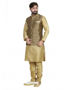 Competent Golden Jharna Kurta Pajama