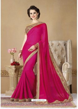 Rani Crepe Silk Party Wear Saree