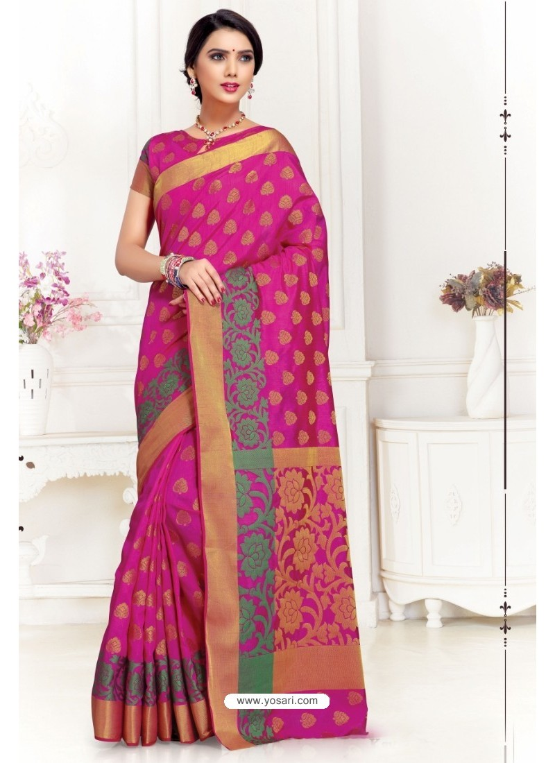 Hot Rani Uppada Silk Party Wear Saree
